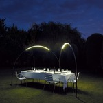 Halley Arc Outdoor Floor Lamp - Black /