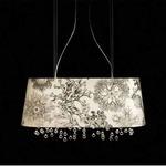 Marini Oval Suspension - White / Crystal
