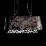 Marini Oval Suspension - Black / Crystal