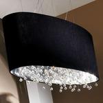 Velvet Suspension - Silver / Black Aged Velvet