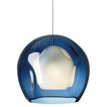 FJ Mini Jasper Pendant - Satin Nickel / Blue