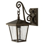 Trellis Outdoor Wall Sconce - Regency Bronze / Seedy Water Glass