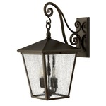Trellis Outdoor Hanging Scroll Wall Light - Regency Bronze /