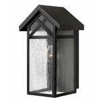 Holbrook Outdoor Wall Sconce - Black / Seedy Water Glass