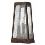 Valley Forge Outdoor Lamp - Sienna / Seedy Water Glass