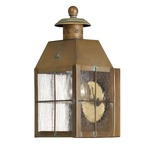 Nantucket 2376 Outdoor Wall Sconce - Aged Brass / Clear Seedy