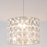 Lighthouse Extra Large Pendant - Satin Nickel / Clear