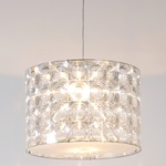 Lighthouse Pendant With Diffuser - Satin Nickel / Clear