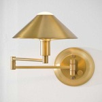 Aging Eye Metal Shade Swing Arm Light - Antique Brass /