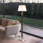 Ema Floor Lamp - Nickel/ Dark Leather / Cotton