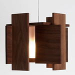 Abeo LED Pendant - Brushed Aluminum / Oiled Walnut