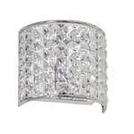 Crystal Vanity Wall Sconce - Polished Chrome / Clear