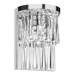 Josephine Crystal Wall Sconce - Polished Chrome / Clear