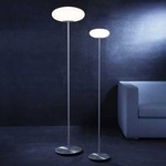 Viennese Floor Lamp - Satin Nickel / Satin White