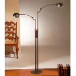 Dual Arm Pharmacy Floor Lamp