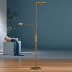 2501 Raumfluter Side Arm Reading Floor Lamp - Antique Brass /