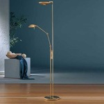 2501 Raumfluter Side Arm Reading Floor Lamp - Brushed Brass /