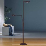2501 Raumfluter Side Arm Reading Floor Lamp - Hand Brushed Old Bronze /