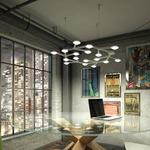 LED NET Circle Suspension - Aluminum /