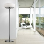 Inari Floor Lamp - Nickel / Opal