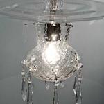 Morphosis Rigid Stem Pendant - Chrome / Clear / Ballotton Crystal