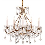 Paramour Chandelier - Gold / Crystal