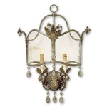Zara Wall Sconce - Viejo Gold / Silver / Clear Seeded