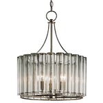 Bevilacqua Small Chandelier - Silver Leaf / Clear
