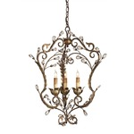 Melody Chandelier - Cupertino/ Gold Leaf / Crystal