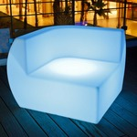 Side Bluetooth LED Corner Chair -  / White