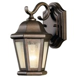 Martinsville Small Outdoor Wall Sconce - Corinthian Bronze / Clear Seeded
