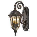 Baton Rouge Outdoor Wall Sconce - Walnut / Tinted Gold Luster