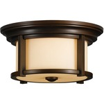 Merrill Outdoor Ceiling Light Fixture - Heritage Bronze / Cream