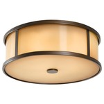 Dakota Outdoor Ceiling Light Fixture - Heritage Bronze/ Aged Oak /