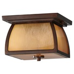 Wright House Outdoor Ceiling Light - Sorrel Brown/Striated Ivory /