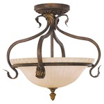 Sonoma Valley Semi Flush Mount - Aged Tortoise Shell / French Scavo Glass