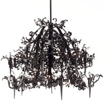 Flower Power Chandelier - Matte Black