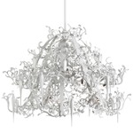 Flower Power Chandelier - White /
