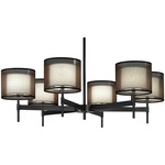 Saturnia Chandelier - Deep Patina and Ascot White /
