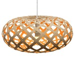 Kina Pendant - Bamboo / Natural / Orange