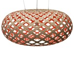 Kina Pendant - Bamboo / Natural / Red