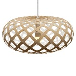 Kina Pendant - Bamboo / Natural / White