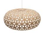 Snowflake Pendant - Bamboo / Natural / White