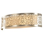 Arabesque Bathroom Vanity Light - Silver Leaf / Ivory