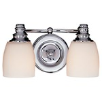 Bentley Bathroom Vanity Light - Chrome / White Opal Etched