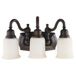 Canterbury Bath Bar - Oil Rubbed Bronze / White Opal Etched