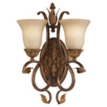 Sonoma Valley 2 Light Wall Sconce - Aged Tortoise Shell / French Scavo Glass