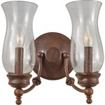 Pickering Lane 2 Light Wall Sconce - Heritage Bronze / Clear Seeded