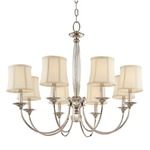 Rockville Chandelier - Polished Nickel / Off White