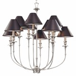 Jasper Chandelier - Antique Nickel / Black